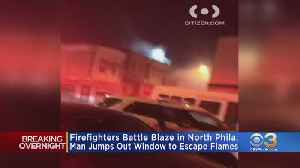Firefighters Rush To Battle Flames In North Philadelphia [Video]