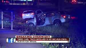 Multiple vehicles involved in hit and run crash on North Fort Myers overnight [Video]