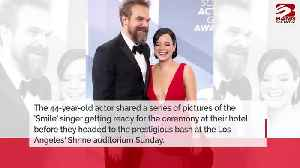David Harbour gushes over 'hot' girlfriend Lily Allen [Video]