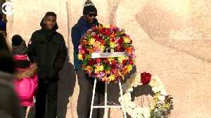 WEB EXTRA: Martin Luther King Jr Memorial Wreath Laying [Video]