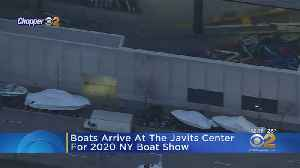 Boats Arrive At The Javits Center For 2020 NY Boat Show [Video]