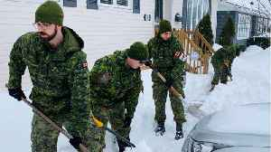 Canadian Armed Forces Called-in To Help With Newfoundland And Labrador Storm