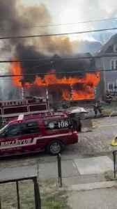 Crews Battle Blaze At Bellevue Home [Video]