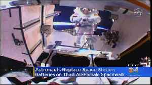 Astronauts Replace Space Station Batteries On Third All-Female Spacewalk [Video]