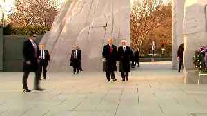 WEB EXTRA: President Trump At MLK Memorial [Video]