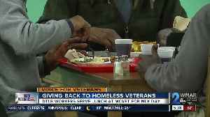 DTLR workers serve lunch to homeless vets at MCVET for MLK Day [Video]
