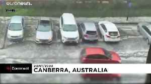 Powerful hail storm and major dust storms in Australia