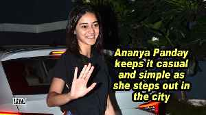 Ananya Panday keeps it casual and simple as she steps out in the city [Video]