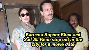 Kareena Kapoor Khan and Saif Ali Khan step out in the city for a movie date [Video]