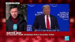 """Trump speaks at Davos: """"The tone of the speech very much in praise of his own economic policies"""" [Video]"""