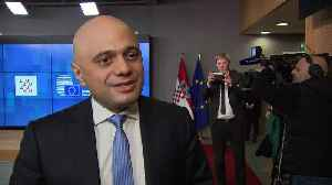Chancellor Sajid Javid in Brussels [Video]