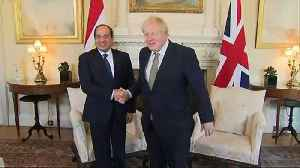 Johnson holds talks with Egyptian president [Video]