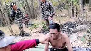 Thai motorcyclist survives 13 nights in the jungle after fleeing police checkpoint and crashing into a tree [Video]