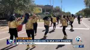 Local marching band performs in St. Petersburg MLK Day parade [Video]