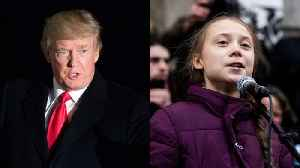 News video: Trump And Thunberg Address Climate Change At Davos Forum