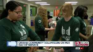 Omaha community volunteers at MLK Day of Service [Video]