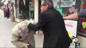La Mesa businessman attacks reporters [Video]