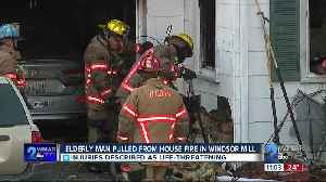 Elderly man pulled from house fire in Windsor Mill [Video]