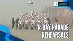Republic Day 2020 rehearsals: CRPF women bikers practice their skills [Video]