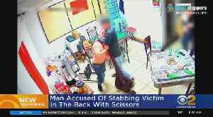 News video: Man Stabbed In Back With Scissors