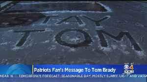 Patriots Fan Shovels 'STAY TOM' Into Boston Public Garden Lagoon [Video]