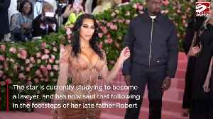 Kim Kardashian West: A law career has been in my soul for years [Video]
