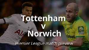 Premier League match preview: Tottenham v Norwich [Video]
