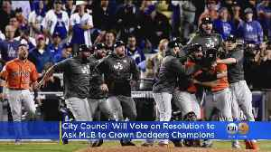 LA City Council Demands MLB Award 2017, 2018 World Series Titles To Dodgers In Wake Of Cheating Scandal [Video]