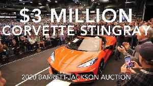 News video: This Chevrolet Corvette Stingray was auctioned off for $3 Million