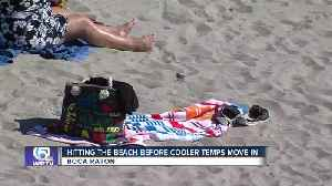 Hitting the beach before the cooler temps move in [Video]