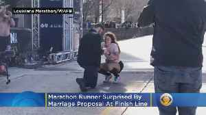 WATCH: Marathon Runner Surprised By Marriage Proposal At Finish Line [Video]