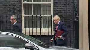 Boris Johnson departs Downing Street for PMQs [Video]