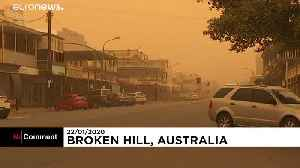 Australian outback town blanketed in dust storm