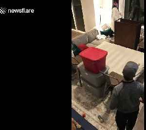 Relationship goals! Time-lapse shows US couple build 'fort' together in adorable annual New Year's Eve tradition [Video]