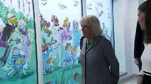 Camilla unveils stained glass windows at children's hospital [Video]