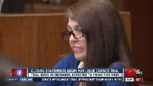 Closing arguments are underway as the Leslie Chance trial nears an end [Video]