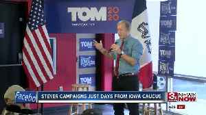 Steyer campaigns just days from Iowa caucus [Video]