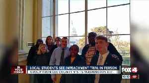 Students from Southwest Florida see impeachment trial in person [Video]