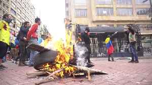 Protests against Colombian government turn violent in Bogota [Video]