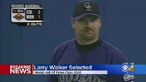 Larry Walker, Former Rockies Outfielder, Elected To National Baseball Hall of Fame [Video]