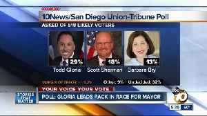 Poll: Gloria leads pack in San Diego mayoral race [Video]