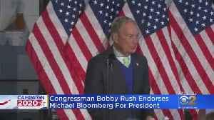 Rep. Bobby Rush Endorses Michael Bloomberg For President [Video]