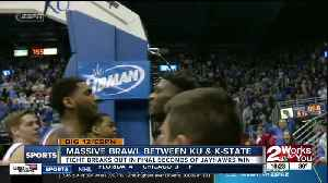Massive brawl breaks out between Kansas and Kansas State Basketball players [Video]