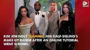 Kim Kardashian West mocks Kylie Jenner's make-up [Video]