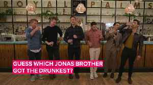 The Jonas Brothers get wasted playing drinking games with Seth Meyers [Video]