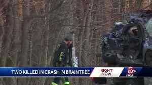 2 men killed in Braintree crash [Video]