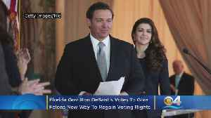 Florida Gov. Ron DeSantis Votes To Give Felons New Way To Regain Voting Rights [Video]