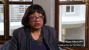 """Diane Abbott """"very concerned"""" over knife crime [Video]"""