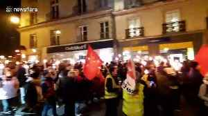 Large protest in Nantes against French President Macron's pension reform [Video]