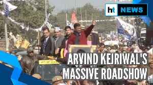 Delhi Elections 2020 | CM Arvind Kejriwal holds massive roadshow in Matiala [Video]
